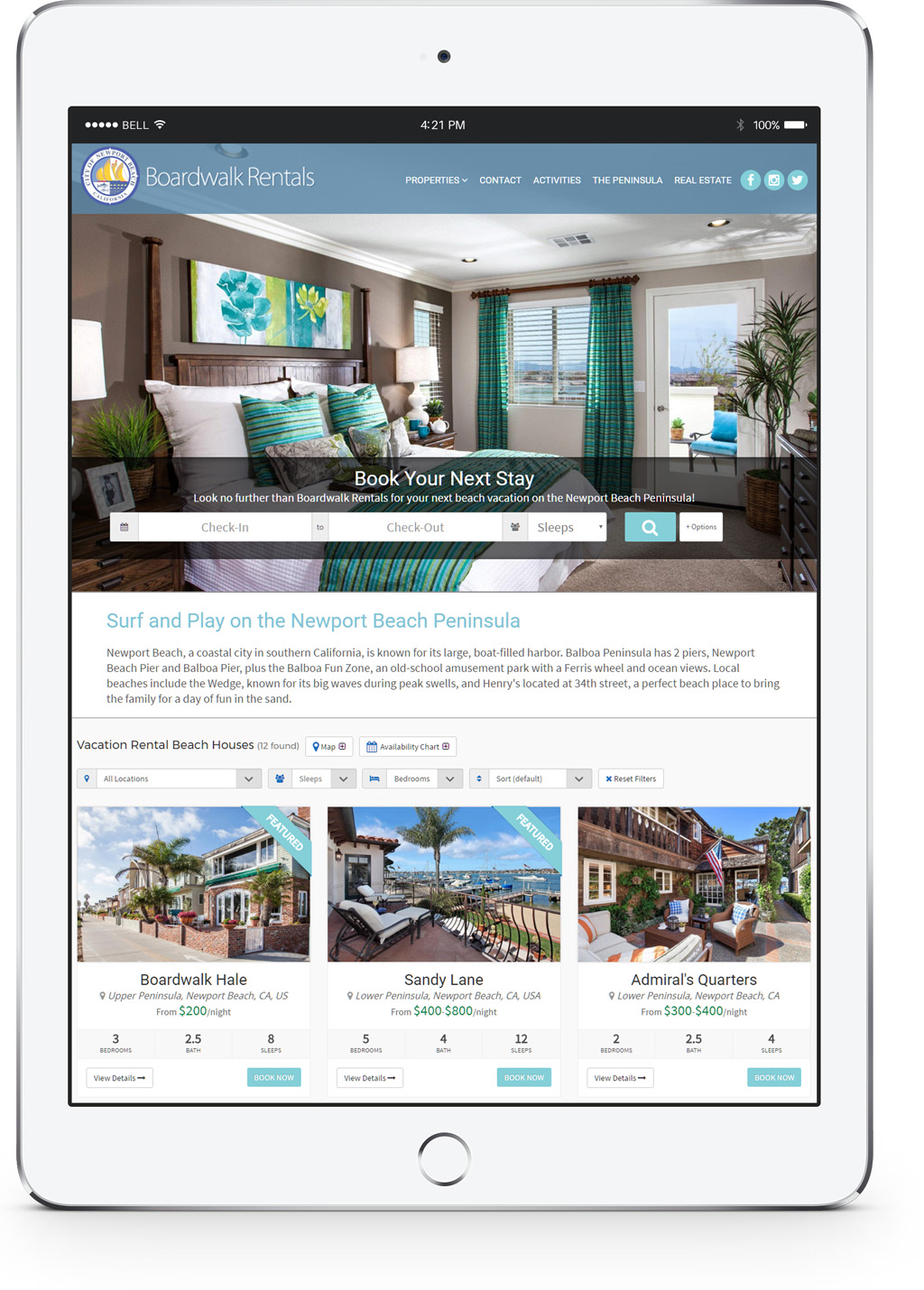 Professional Vacation Rental Websites